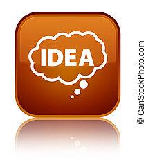 Idea bubble icon special brown square button