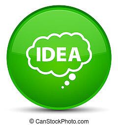 Idea bubble icon special green round button