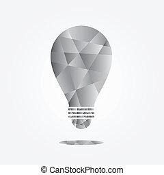 idea bulb cubist style. vector.