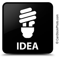 Idea (bulb icon) black square button