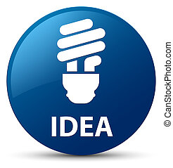 Idea (bulb icon) blue round button