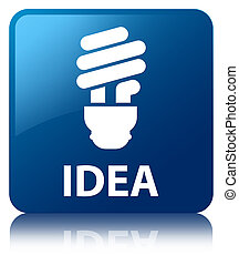 Idea (bulb icon) blue square button