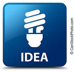 Idea (bulb icon) blue square button