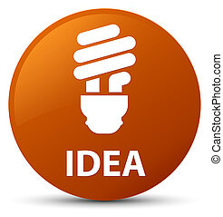 Idea (bulb icon) brown round button