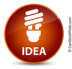 Idea (bulb icon) elegant brown round button