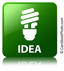 Idea (bulb icon) green square button