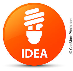 Idea (bulb icon) orange round button
