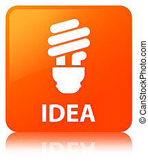 Idea (bulb icon) orange square button