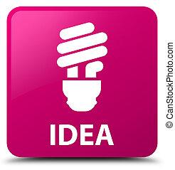 Idea (bulb icon) pink square button