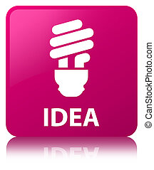 Idea (bulb icon) pink square button