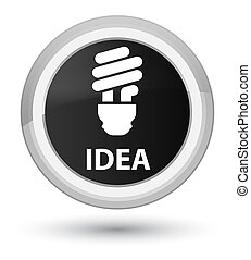 Idea (bulb icon) prime black round button
