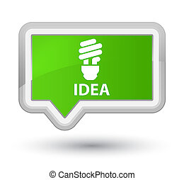 Idea (bulb icon) prime soft green banner button