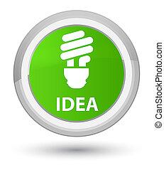 Idea (bulb icon) prime soft green round button