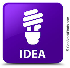 Idea (bulb icon) purple square button