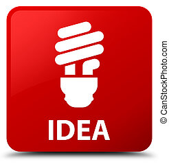 Idea (bulb icon) red square button