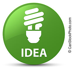 Idea (bulb icon) soft green round button