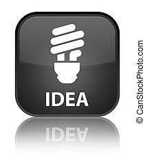 Idea (bulb icon) special black square button