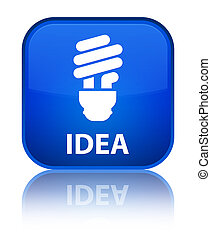 Idea (bulb icon) special blue square button
