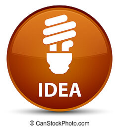 Idea (bulb icon) special brown round button