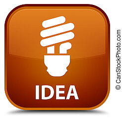Idea (bulb icon) special brown square button
