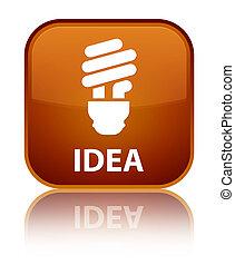 Idea (bulb icon) special brown square button
