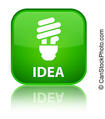 Idea (bulb icon) special green square button