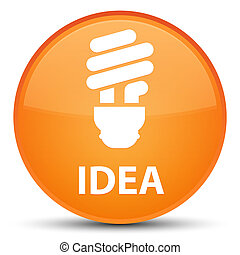 Idea (bulb icon) special orange round button