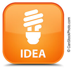 Idea (bulb icon) special orange square button