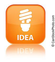 Idea (bulb icon) special orange square button