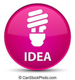 Idea (bulb icon) special pink round button