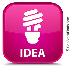 Idea (bulb icon) special pink square button