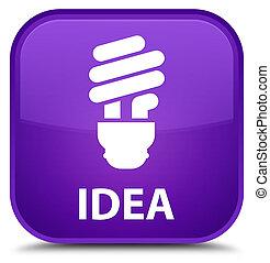 Idea (bulb icon) special purple square button