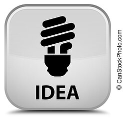 Idea (bulb icon) special white square button