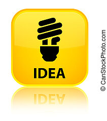 Idea (bulb icon) special yellow square button