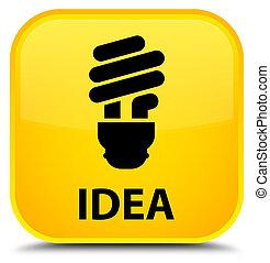 Idea (bulb icon) special yellow square button