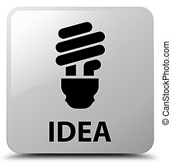 Idea (bulb icon) white square button