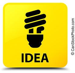 Idea (bulb icon) yellow square button