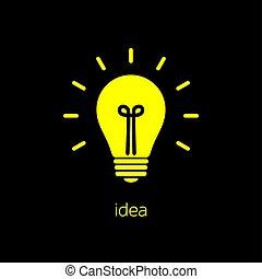 Idea bulb. Light bulb icon with concept of idea vector illustration isolated