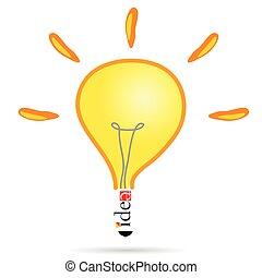 idea bulb vector illustration