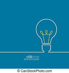 idea., bulbo, luz