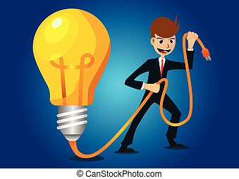 idea business - Businessmen are coming up with new ideas