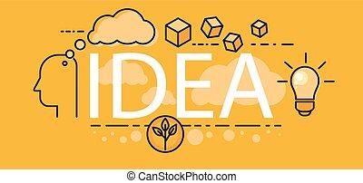 Idea Business Startup Banner Concept