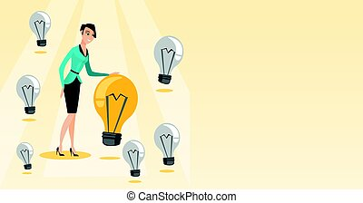 idea., caucasian donna, affari, detenere