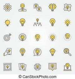 Idea colorful icons set