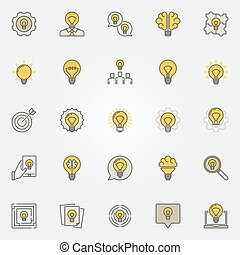Idea colorful icons set