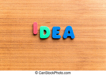 idea colorful word