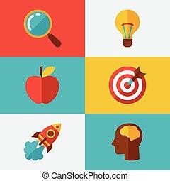 Idea concept illustration in flat design style.