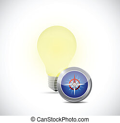idea concept light bulb illustration design