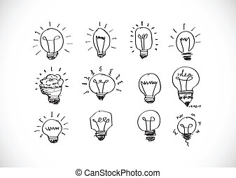 Idea concept light bulb vector illu