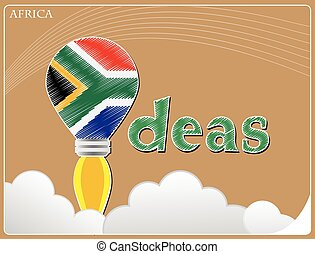 Idea concept  made from the flag of Africa, conceptual vector illustration